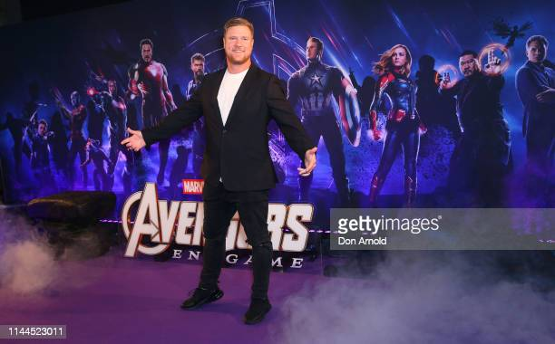 Dean Wells attends the Sydney screening of Avengers End Game at Hoyts Entertainment Quarter on April 23 2019 in Sydney Australia