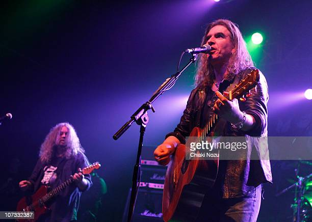 Dean White and Justin Sullivan of New Model Army perform at The Forum on December 4, 2010 in London, England.