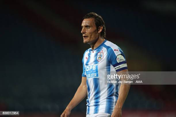 Dean Whitehead of Huddersfield Town during the Carabao Cup Second Round match between Huddersfield Town and Rotherham United at The John Smiths...