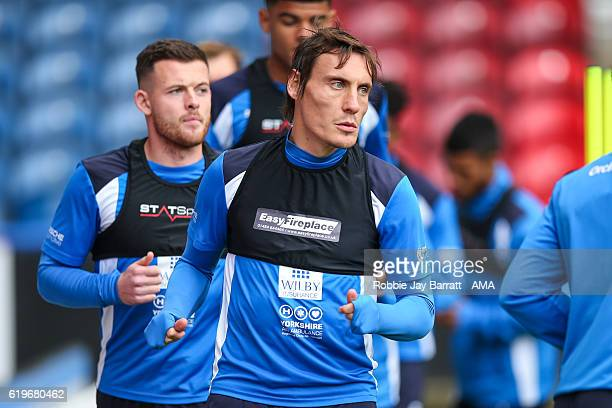 Dean Whitehead of Huddersfield Town during the Huddersfield Town Open Training Session at The John Smiths Stadium on October 27 2016 in Huddersfield...
