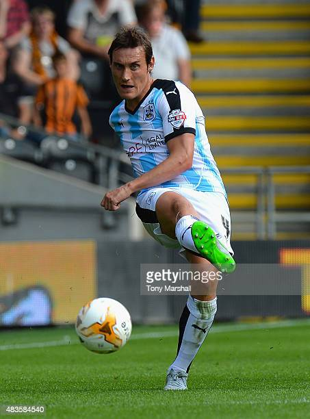 Dean Whitehead of Huddersfield Town during the Sky Bet Championship match between Hull City and Huddersfield Town at KC Stadium on August 8 2015 in...