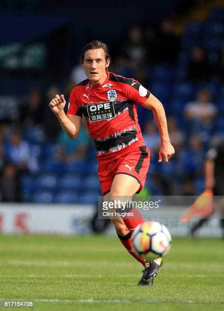 Dean Whitehead of Huddersfield Town in action during the pre season friendly game against Bury at Gigg Lane on July 16 2017 in Bury England