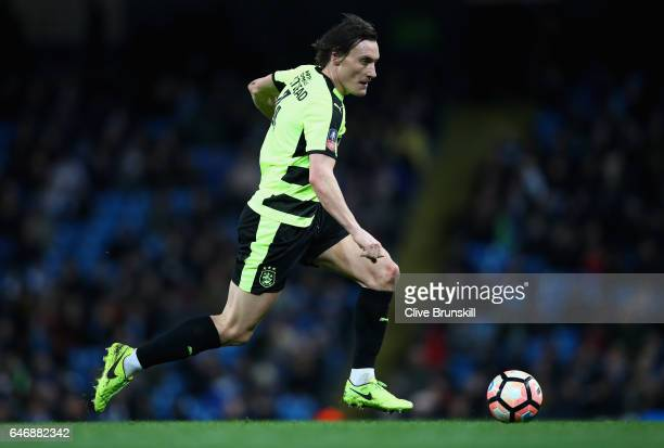 Dean Whitehead of Huddersfield Town in action during the The Emirates FA Cup Fifth Round replay match between Manchester City and Huddersfield Town...