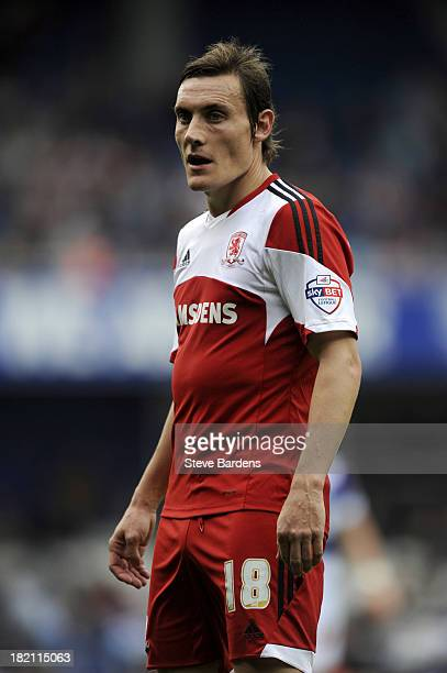 Dean Whitehead of Middlesbrough during the Sky Bet Championship match between Queens Park Rangers and Middlesbrough at Loftus Road on September 28...