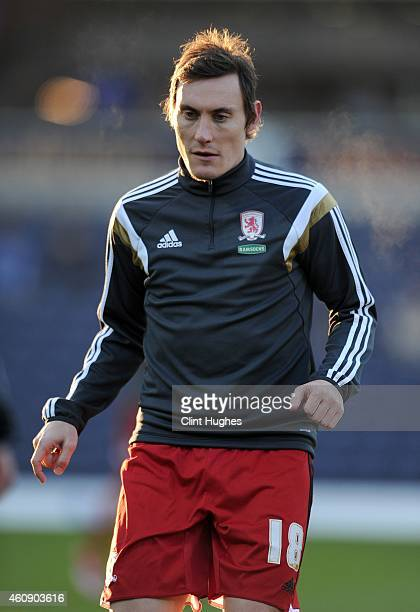 Dean Whitehead of Middlesbrough during the Sky Bet Championship match between Blackburn Rovers and Middlesbrough at Ewood Park on December 28 2014 in...