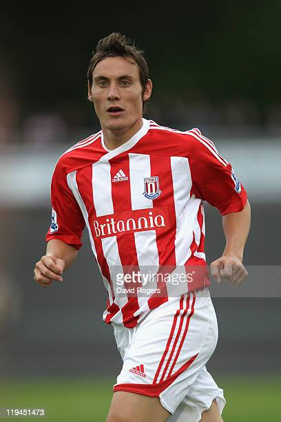 Dean Whitehead of Stoke City looks on during the pre season friendly match between Newcastle Town and Stoke City on July 20 2011 in Newcastle under...
