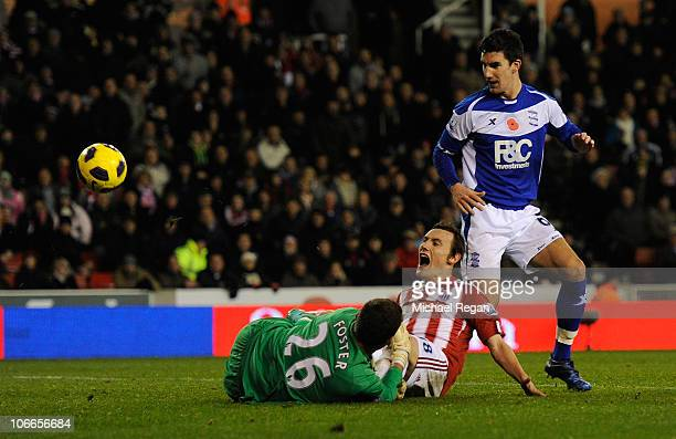Dean Whitehead of Stoke scores to make it 32 during the Barclays Premier League match between Stoke City and Birmingham City at the Britannia Stadium...