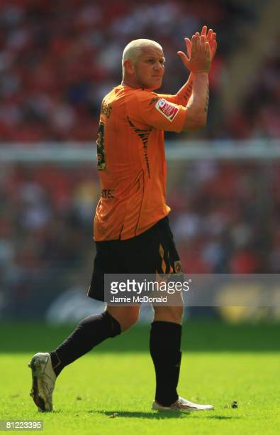 Dean Windass of Hull City applauds the fans as he is substituted during the Coca Cola Championship Playoff Final match between Hull City and Bristol...