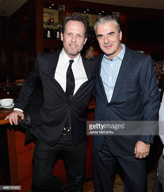 Dean Winters and Chris Noth attend the Sinatra All Or Nothing At All New York Screening after party at The Porterhouse on March 31 2015 in New York...