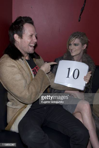 Dean Winters and Dara Young at The Crush Management Hilfiger Denim and OK Magazine Viva La Karaoke at Angels Kings on January 28 2008 in New York City