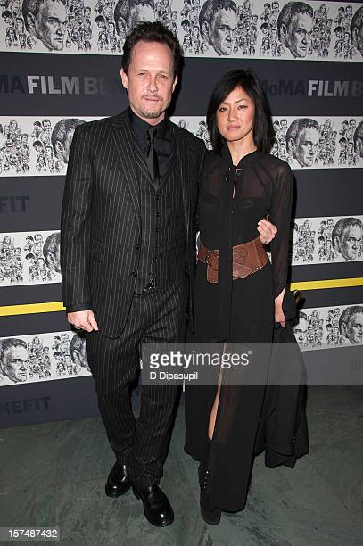 Dean Winters and Fannie Chan attend the Museum of Modern Art film benefit honoring Quentin Tarantino on December 3 2012 in New York City