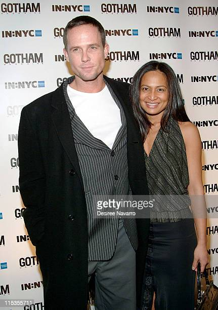 Dean Winters and guest during Gotham Magazine's 5th Anniversary Party at Cipriani's 23rd Street in New York City New York United States
