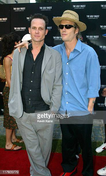 Dean Winters and Scott Winters during Golf Digest Companies Celebrates the 2002 US Open Golf Championship at Oheka Castle in Cold Spring Hills New...