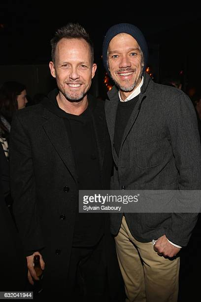 Dean Winters and Stephen Gaghan attend The Weinstein Company with Grey Goose Host the After Party for The Founder on January 18 2017 in New York City