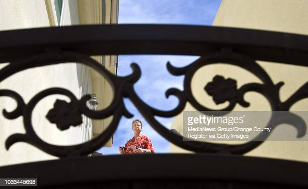 Dean Zibas a real estate appraiser based in San Clemente looks over at an Anaheim Hills home listed for $239 million ///ADDITIONAL shot 040914...