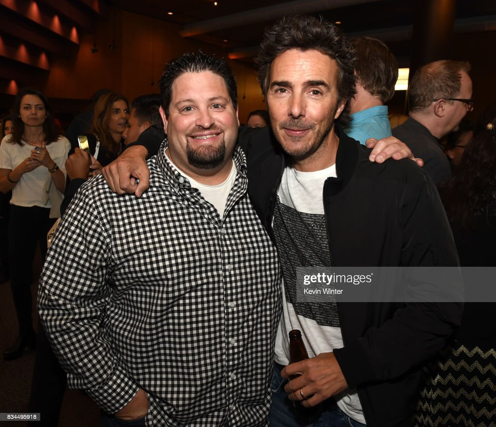 Dean Zimmerman, editor (L) and Shawn Levy, director and executive producer arrive at a reception and q&a for Netflix's 'Stranger Thing' at the Directors Guild on August 17, 2017 in Los Angeles, California.