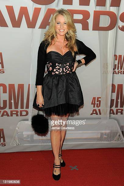 Deana Carter attends the 45th annual CMA Awards at the Bridgestone Arena on November 9 2011 in Nashville Tennessee