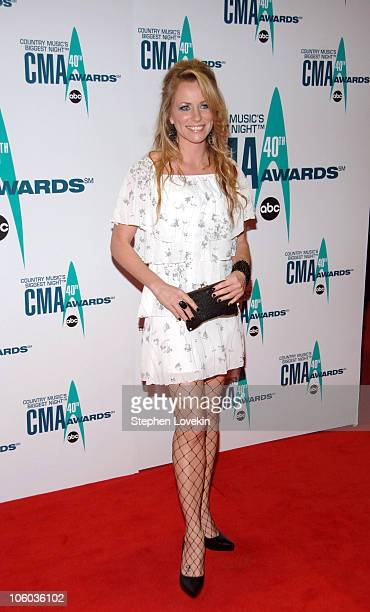 Deana Carter during The 40th Annual CMA Awards Arrivals at Gaylord Entertainment Center in Nashville Tennessee United States
