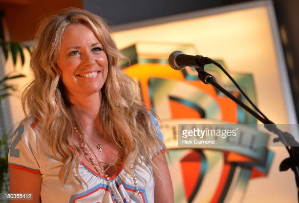Deana Carter performs during her record release party for her new album Southern Way Of Life at Warner Chappell on September 11 2013 in Nashville...