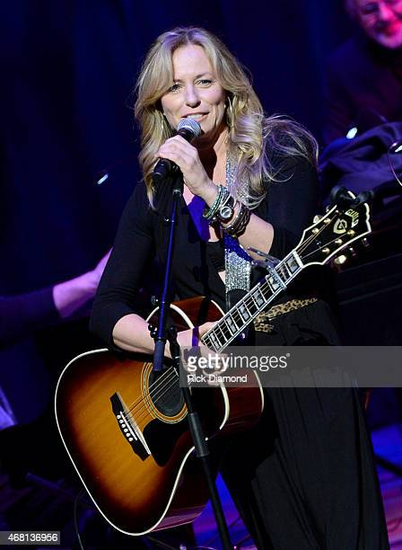Deana Carter performs during Listen To The Band The Nashville Cats In Concert With Special Guests For Dylan Cash And The Nashville Cats Exhibition...