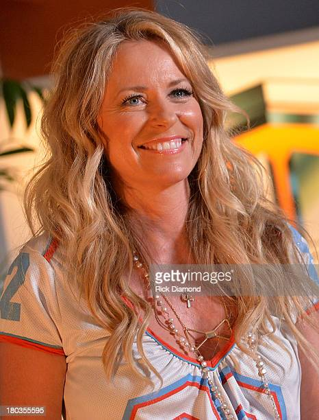 Deana Carter talks with guests about her new record during her record release party for Southern Way Of Life at Warner Chappell on September 11 2013...