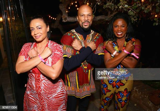 Deana J Becker Common and guest attend The African Getdown Hosted by Common at the Private Residence of Jonas Tahlin CEO Absolut Elyx on March 8 2018...