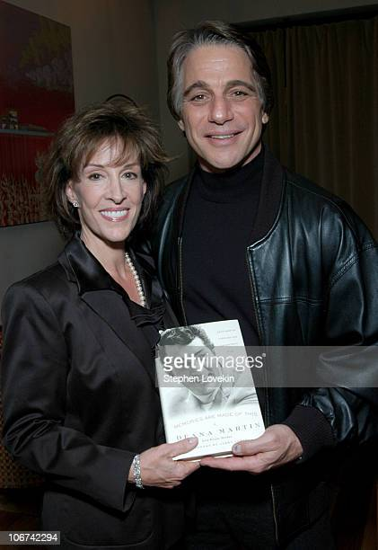 Deana Martin and Tony Danza during Deana Martin Celebrates the Publication of her New Book Memoirs Are Made Of This at Chambers Hotel in New York...