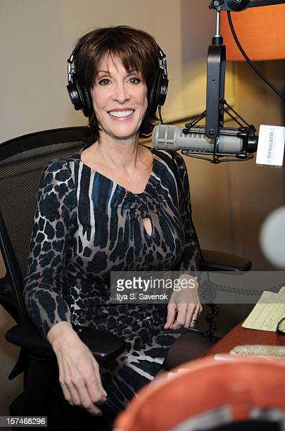 Deana Martin guest DJs on Siriusly Sinatra in the SiriusXM studio on December 3 2012 in New York City