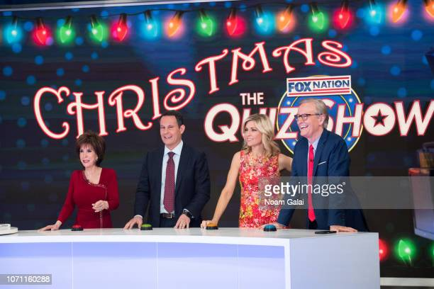 "Deana Martin visits ""FOX & Friends"" with Brian Kilmeade, Ainsley Earhardt and Steve Doocy at FOX Studios on December 10, 2018 in New York City."