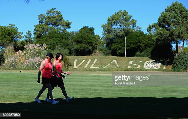 Deana Rushworth and Sally Baxter of Witney Lakes Golf Club walking down the 6th fairway during the WPGA Lombard Trophy Final Day Two at Pestana Vila...