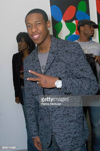 Deance Wyatt attends Olympic Artist Jesse Raudales Peace for the Children Art Show at Los Angeles on February 9 2007