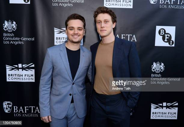 DeanCharles Chapman and George MacKay attend a celebration for British Oscar nominees on February 07 2020 in Los Angeles California