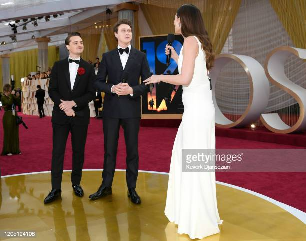 DeanCharles Chapman and George MacKay attend the 92nd Annual Academy Awards at Hollywood and Highland on February 09 2020 in Hollywood California