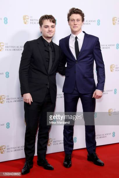 DeanCharles Chapman and George MacKay attend the EE British Academy Film Awards 2020 Nominees' Party at Kensington Palace on February 01 2020 in...