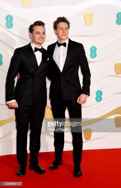 DeanCharles Chapman and George MacKay attends the EE British Academy Film Awards 2020 at Royal Albert Hall on February 02 2020 in London England