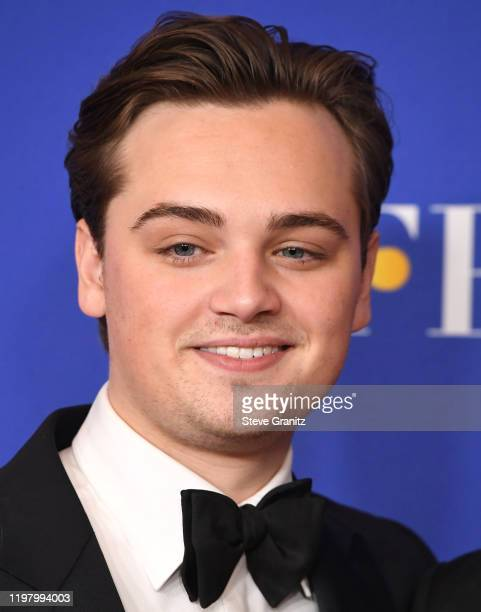 DeanCharles Chapman poses in the press room at the 77th Annual Golden Globe Awards at The Beverly Hilton Hotel on January 05 2020 in Beverly Hills...