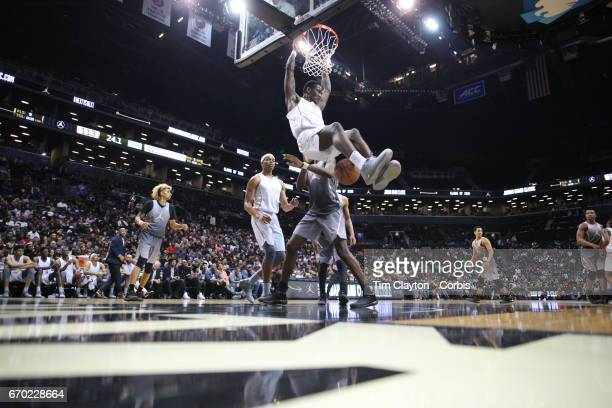 DeAndre Ayton Arizona in action during the Jordan Brand Classic National Boys Team AllStar basketball game at The Barclays Center on April 14 2017 in...