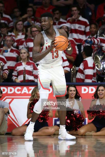 Deandre Ayton of the Arizona Wildcats during the second half of the college basketball game against the UMBC Retrievers at McKale Center on November...