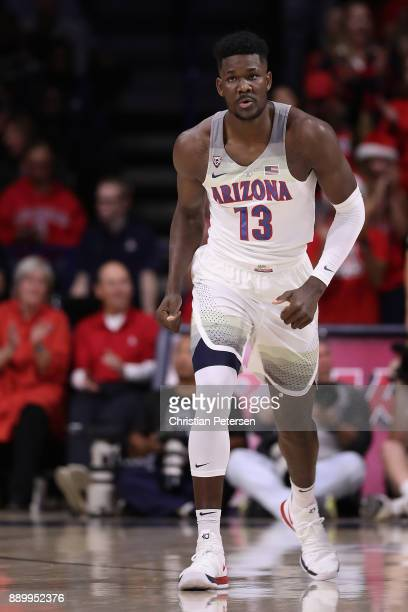 Deandre Ayton of the Arizona Wildcats in action during the first half of the college basketball game against the Alabama Crimson Tide at McKale...