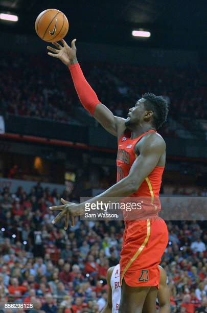 Deandre Ayton of the Arizona Wildcats shoots against the UNLV Rebels during their game at the Thomas Mack Center on December 2 2017 in Las Vegas...