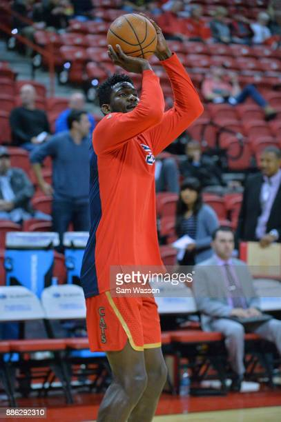 Deandre Ayton of the Arizona Wildcats warms up before his team's game against the UNLV Rebels at the Thomas Mack Center on December 2 2017 in Las...