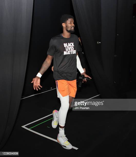 DeAndre Ayton of the Phoenix Suns after the game against the Dallas Mavericks as part of the NBA Restart 2020 on August 13 2020 at Visa Athletic...