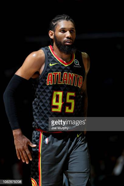DeAndre' Bembry of the Atlanta Hawks looks on against the Memphis Grizzlies during a game on October 19 2018 at FedExForum in Memphis Tennessee NOTE...