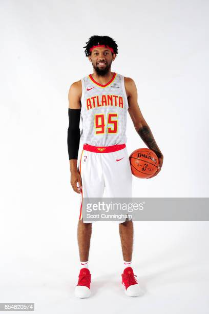 DeAndre' Bembry of the Atlanta Hawks poses for a portrait during the 201718 NBA Media Day on September 25 2017 at Philips Arena in Atlanta Georgia...