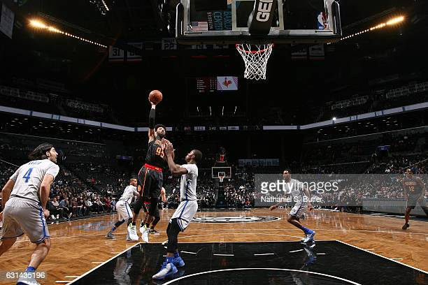 DeAndre Bembry of the Atlanta Hawks shoots the ball against the Brooklyn Nets on January 10 2017 at Barclays Center in Brooklyn New York NOTE TO USER...