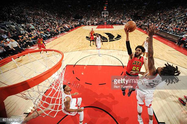 DeAndre Bembry of the Atlanta Hawks shoots the ball against the Toronto Raptors during the game on December 3 2016 at the Air Canada Centre in...