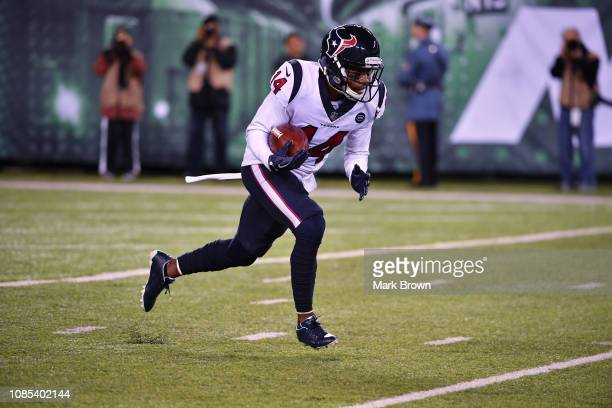 DeAndre Carter of the Houston Texans in action against the New York Jets at MetLife Stadium on December 15 2018 in East Rutherford New Jersey