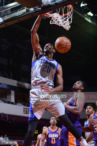 DeAndre Daniels of the Texas Legends dunks the ball against the Northern Arizona Suns during the NBA G League on March 10 2019 at the Findlay Toyota...