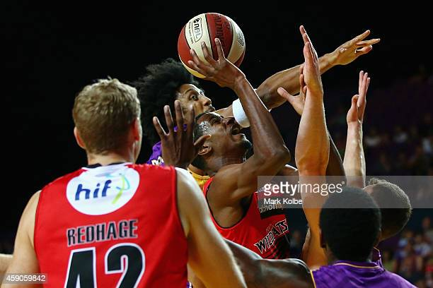 DeAndre Daniels of the Wildcats drives to the basket during the round six NBL match between the Sydney Kings and the Perth Wildcats at Sydney...