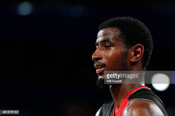 DeAndre Daniels of the Wildcats looks on during the round 15 NBL match between the Perth Wildcats and Melbourne United at Perth Arena on January 21...